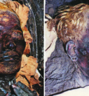 Why are there mummies with straight hair?