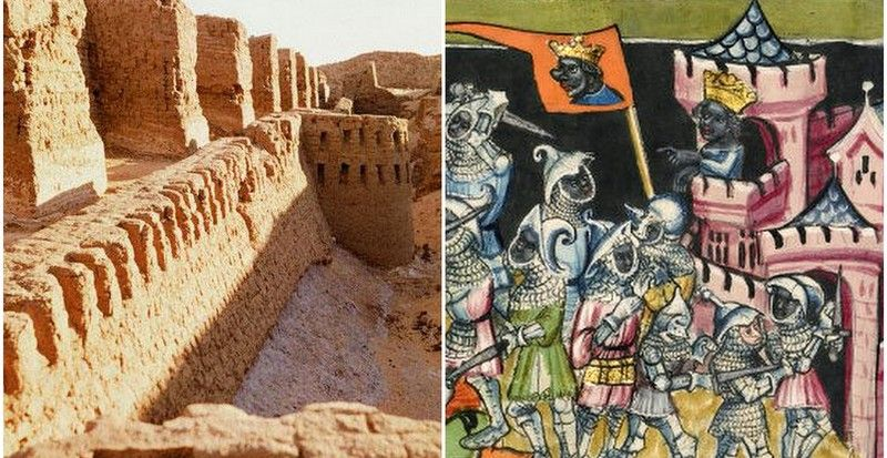 The African origin of fortified castles